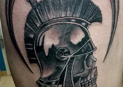 Helmet military tattoo