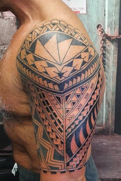 Polynesian Maori tattoo
