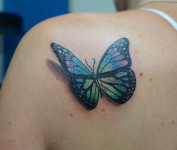 Vlinder Butterfly tattoo