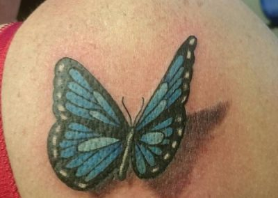 Vlinder Butterfly tattoo