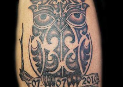 Owl uil tattoo
