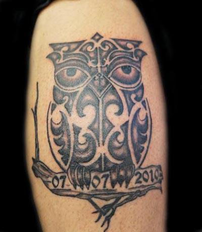 Owl uil tattoo